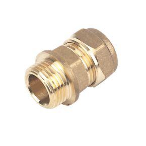 22mm Brass Compression Straight Male Iron to 3/4""
