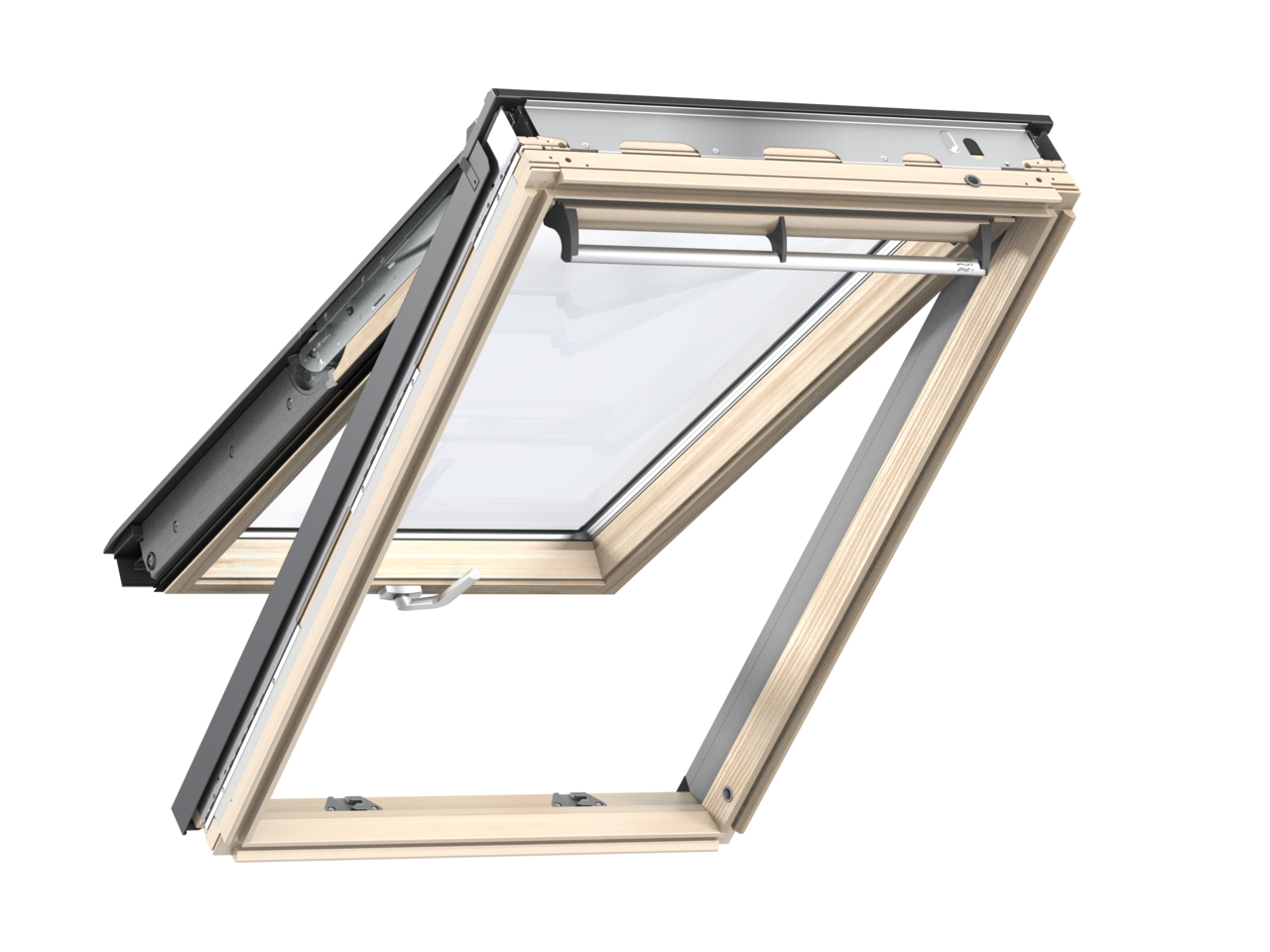 Velux GPL FK06 660 x 1180mm Top Hung Standard 70Pane Roof Window - Pine