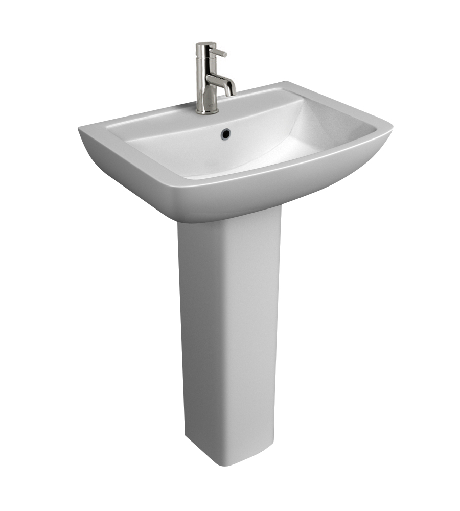 K-Vit Pure 550mm 1TH Basin & Pedestal