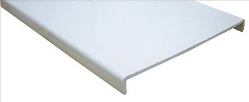 16mm Square White Fascia Board 405mm (Double Ended) (5m)