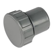 32mm Push Fit Waste Screwed Access Plug - Grey
