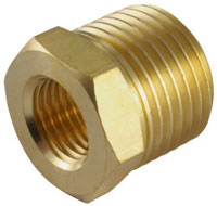 "Brass Reducing Bush 1/2"" x 1/4"""