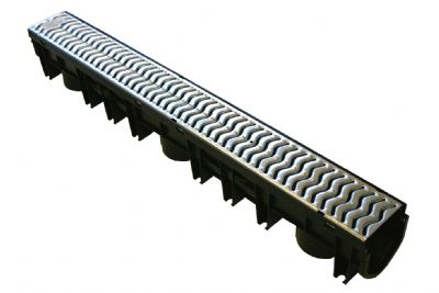 1 metre Channel Drainge and Galvanised Grate
