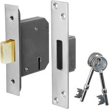Eclipse 63mm 5 Lever BS Deadlock - Nickel Plated