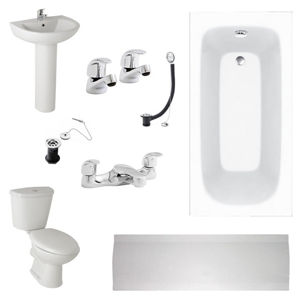 K-Vit G4K Full Bathroom Suite, incl.Taps and wastes