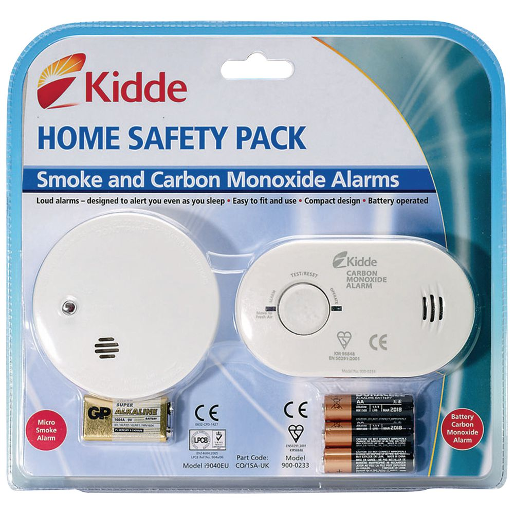 Kidde Home Safety Pack (I9040 Smoke Alarm & 5CO Carbon Monoxide Alarm)