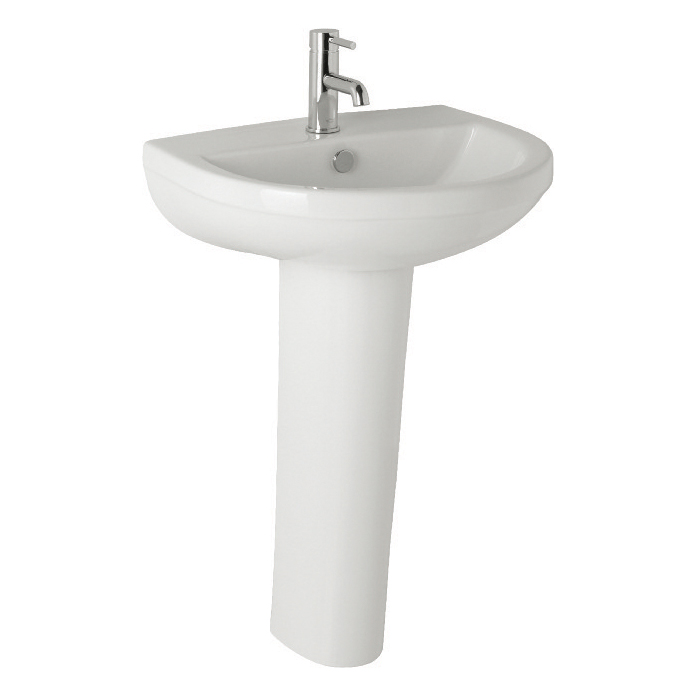 K-Vit Revive Basin 570mm 1TH & Pedestal