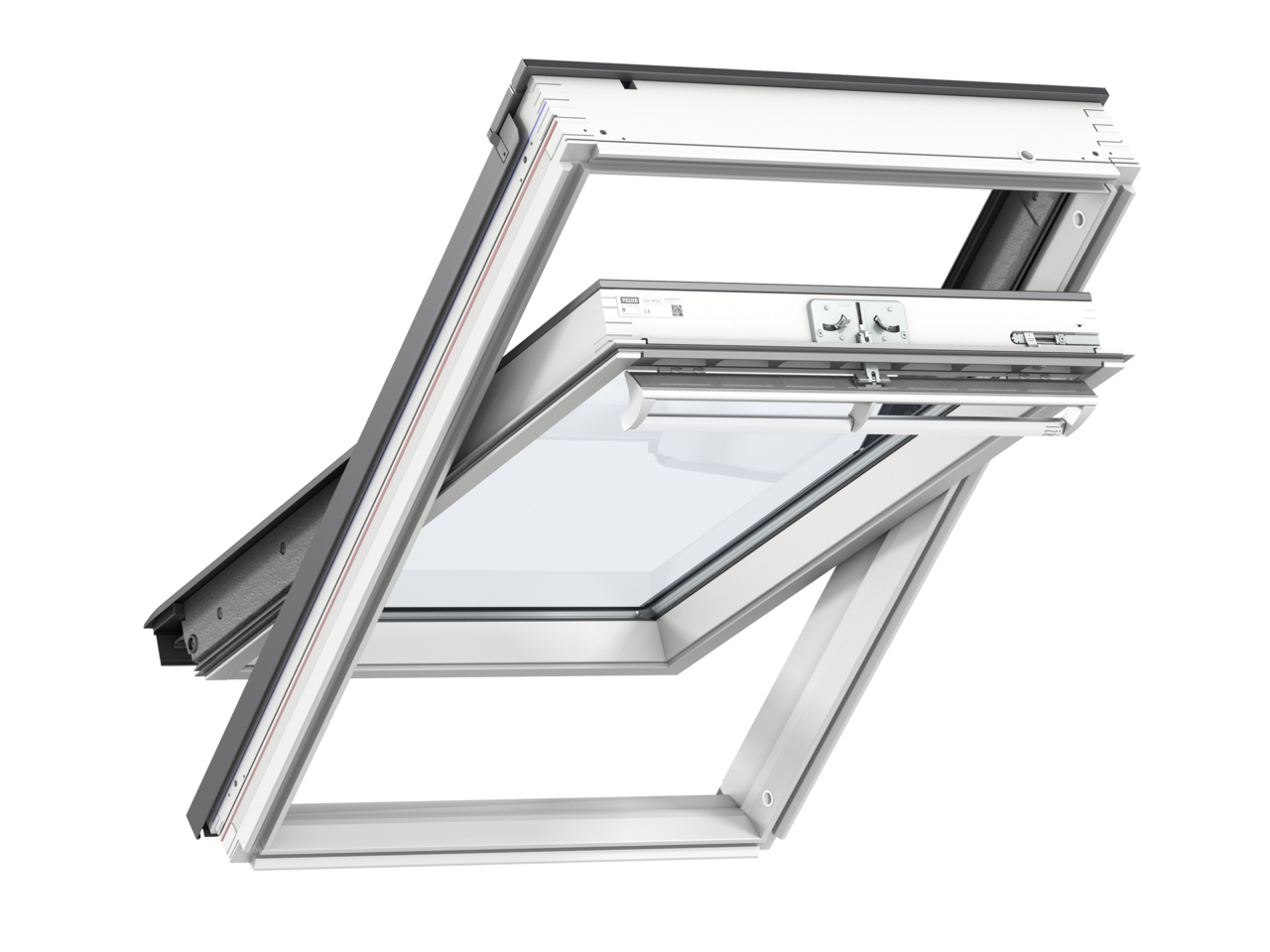 Velux GGL MK08 780 x 1400mm Centre Pivot 66 Pane Roof Window - White Painted