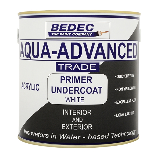 Bedec Aqua Advanced Acrylic Primer Undercoat (Interior & Exterior) - 1L - White