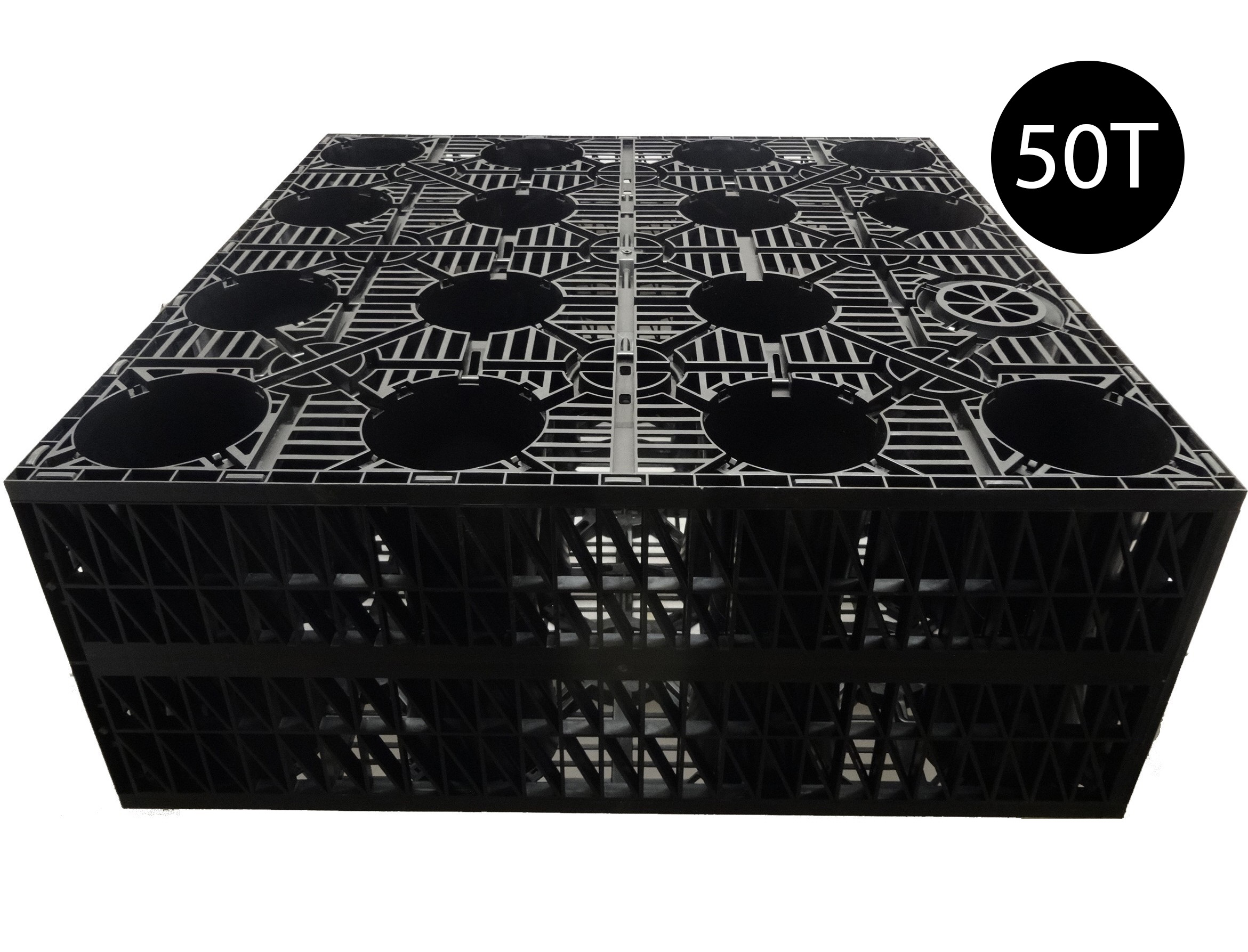 Pennine AquaCrate 440 (Deks Century100) Storm Attenuation Soakaway Crate (50T) - 1000x1000x400mm (0.4m3)