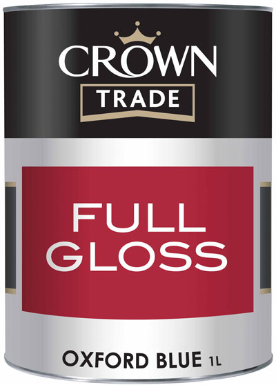Crown Trade Essentials Gloss - 1l - Oxford Blue