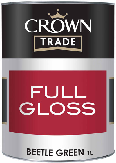 Crown Trade Essentials Gloss - 1l - Beetle Green