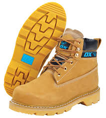 Ox Honey Nubuck Safety Boot - Size 10