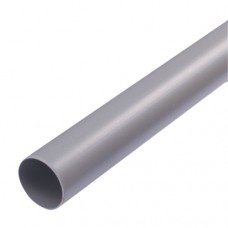 110mm Solvent Weld 3 metre Plain Ended Pipe - Olive Grey