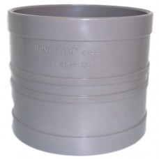 110mm Solvent Weld Double Socket Coupling - Olive Grey