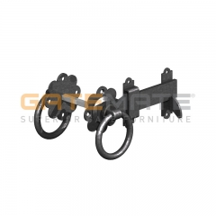 "GateMate 150mm (6"") Ring Gate Latch - Black"