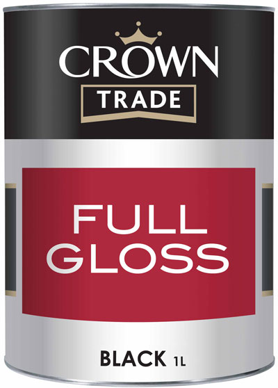 Crown Trade - Full Gloss - 1l - Black