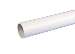 50mm Solvent Weld Waste Plain Ended 3m Pipe - White