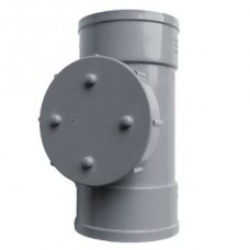 110mm Solvent Weld Double Socket Access Pipe - Olive Grey