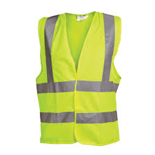 Ox Yellow Hi Visibility Vest - Extra Extra Large (XXL)