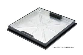 580mm x 580mm X 54mm recessed Clear Opening 460mm Sealed and Locked Cover & Frame