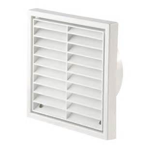 "100mm (4"") Fixed Louvre Vent - White"