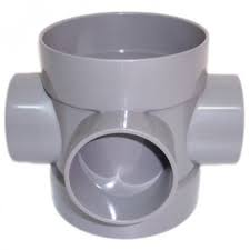 Universal Double Socket - Short Bossed Pipe - Grey
