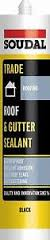 Soudal Trade 300ml Roof & Gutter Sealant - Black