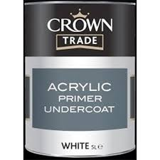 Crown Trade - Acrylic Primer Undercoat - White -2.5L