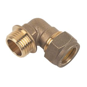 """15mm Brass Compression Male Iron Elbow to 1/2"""""""