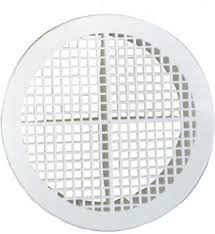 Circular Soffit Vent - White