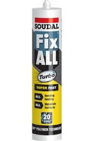 Soudal FixAll Turbo 290ml Sealant/Adhesive - White