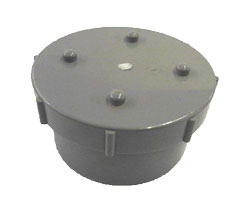 Universal Spigot Screwed Access Cap - Olive Grey