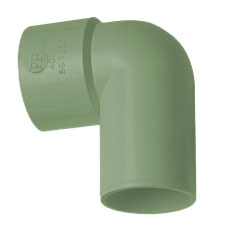 40mm Solvent Weld Waste 90' Spigot Bent  - Olive Grey