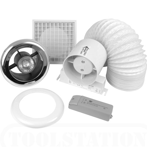 "100mm (4"") Inline Shower Fan Light Kit"