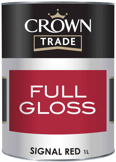 Crown Trade Essentials Gloss - 1l - Signal Red