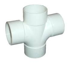 50mm Solvent Weld Waste Cross Tee  - White