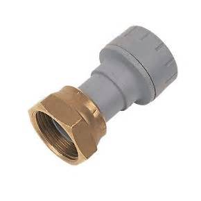 "Polyplumb 15mm x 1/2"" Straight Tap Connector"