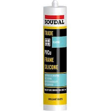 Soudal Trade uPVC 300ml Exterior Frame Silicone - Clear