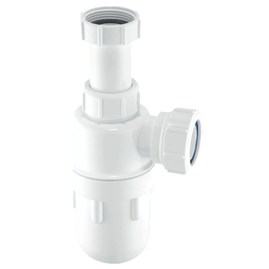 40mm Telescopic Bottle Trap: Telescopic Inlet. 76mm Seal