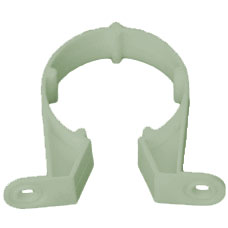 32mm Solvent Weld Waste Pipe Clip - Olive Grey