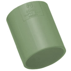40mm Solvent Weld Waste Straight Coupler - Olive Grey