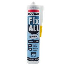 Soudal FixAll Crystal 290ml Sealant/Adhesive - Clear