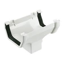 112mm Square Line Running Outlet - White