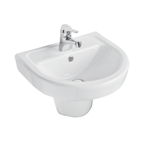K-Vit Ratio 1TH Basin 460mm & Semi-Pedestal