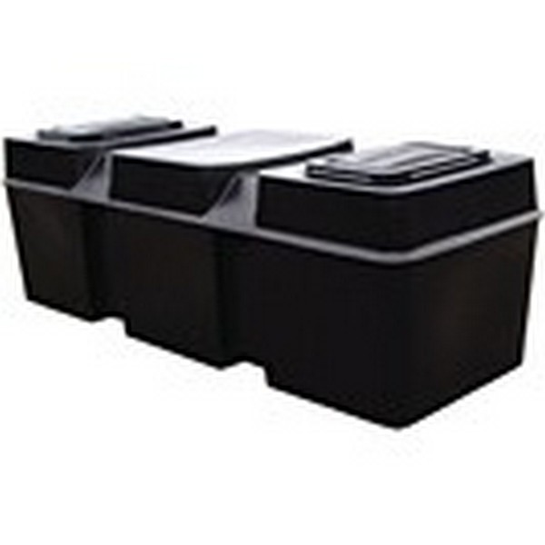50 Gallon Low Level Loft/Coffin Cold Water Storage Tank, Lid, Jacket & Fittings Pack  - 1420x530x490mm
