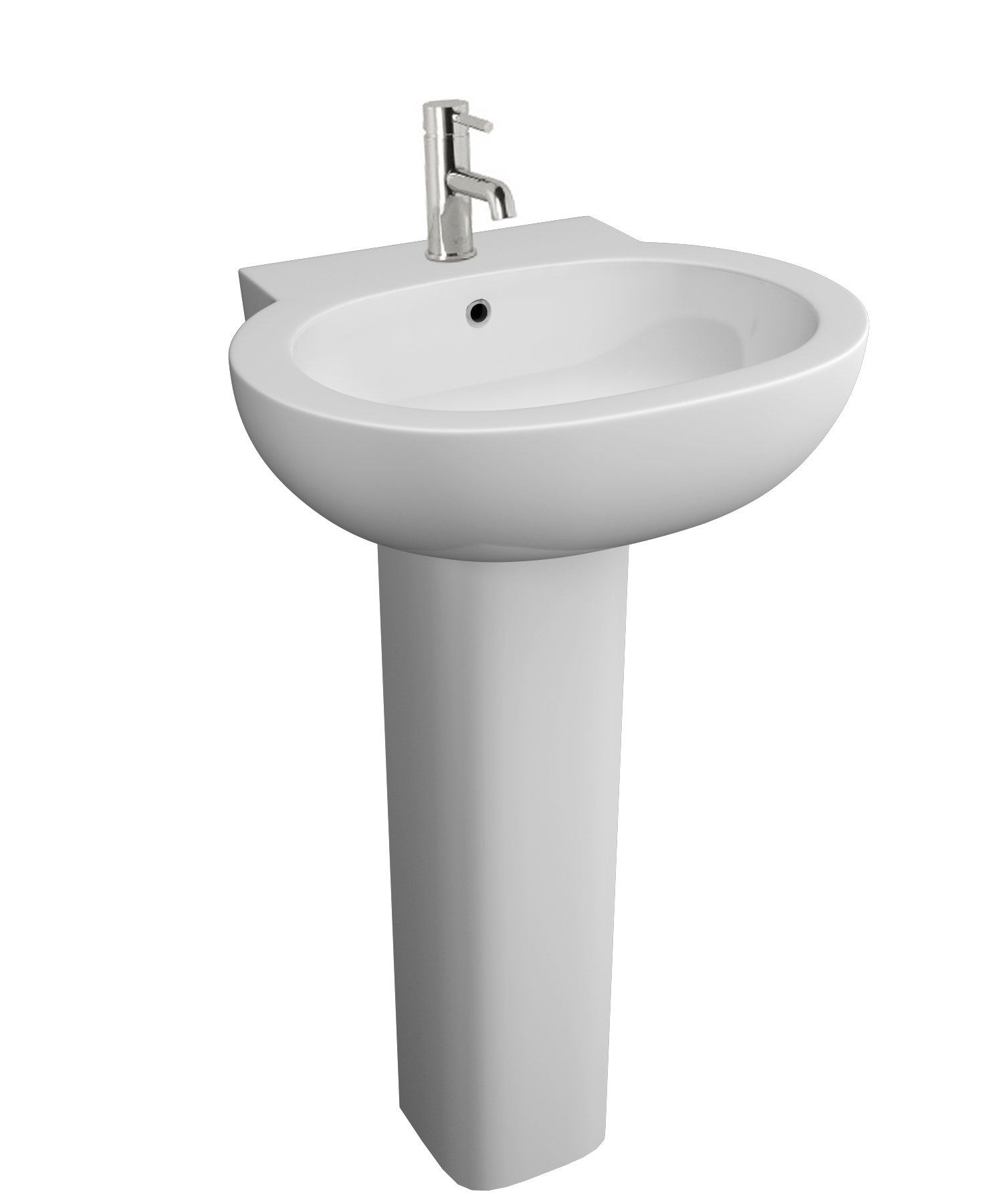 K-Vit Milano 550 1TH Basin & Pedestal