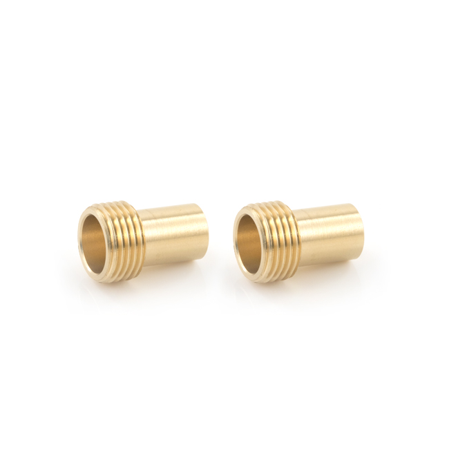 "15mm x 1/2"" Monobloc BSP Adaptor (Fits 1/2"" Flexi Tap Nut to 15mm) (Pair)"