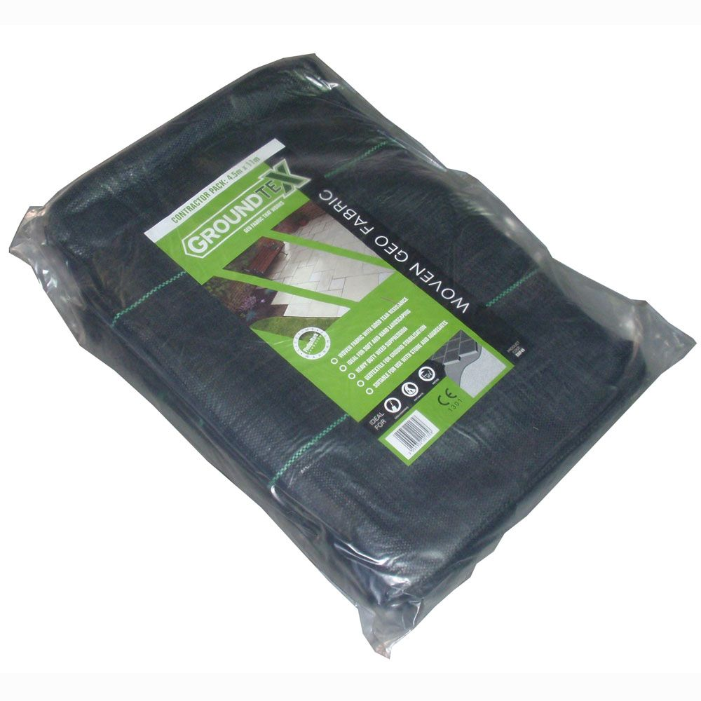 GroundTex Woven Geotextile Contractor Pack - 4.5 x 11m (50m2)