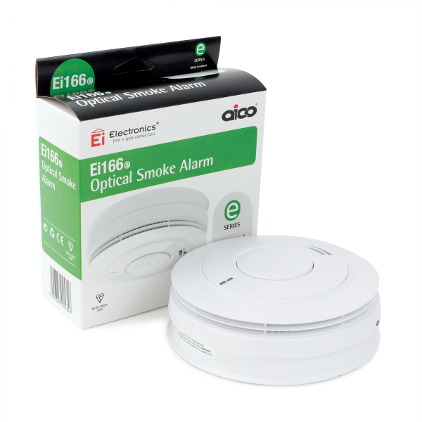 AICO EI166e 240v Optical Detector Smoke Alarm (c/w Lithium Battery)